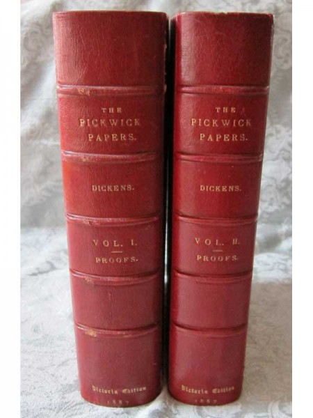 The Posthumous Papers of the Pickwick Club 2 Vols. Spine
