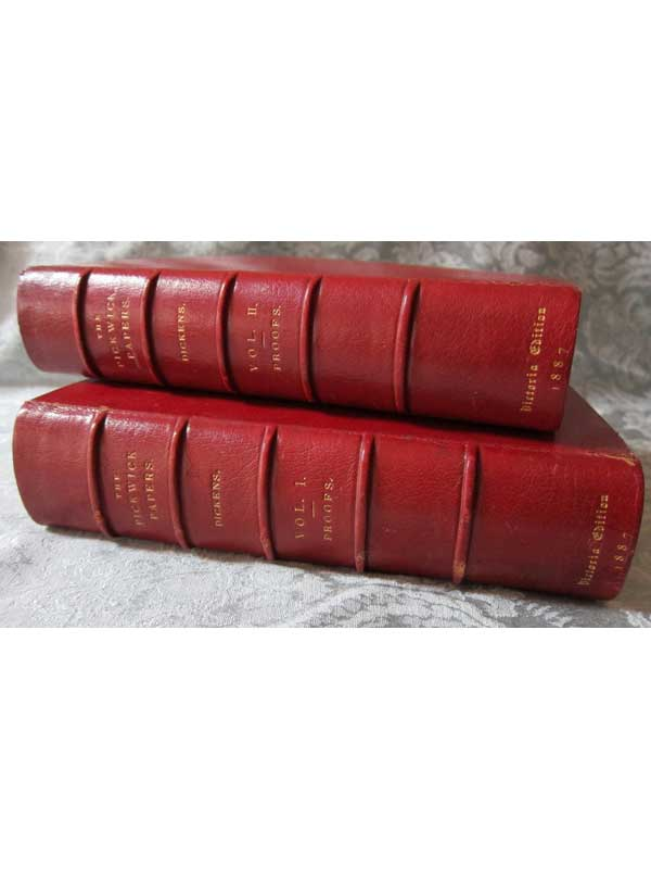 The Posthumous Papers of the Pickwick Club 2 Vols. Stacked